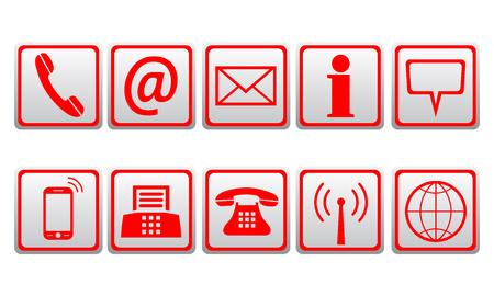 Rote Kontaktsymbole - Lagervektor