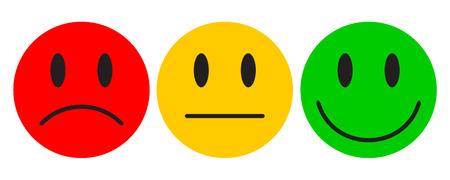 Trois smileys colorés - pour le stock