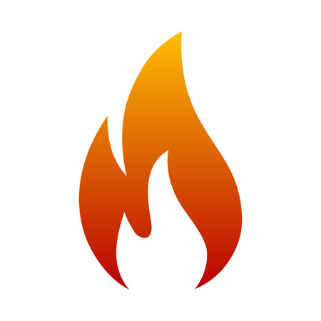 Fire logo. Red, yellow fire - vector