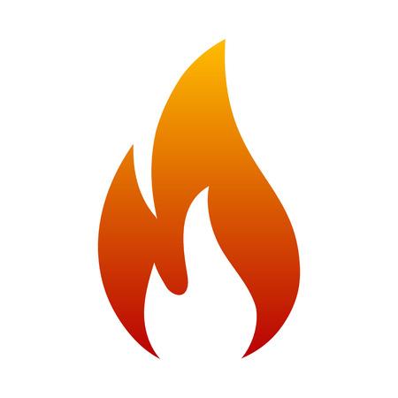 Fire logo. Red, yellow fire - vector