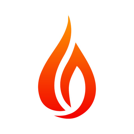 Icon of fire, creative fire logo with tongues of flame. Icon illustration for design stock vector.