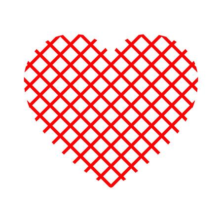Net red heart stock vector.