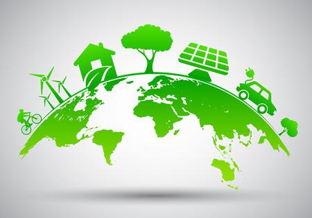 World Environment Day, ecology planet - stock vector Illustration