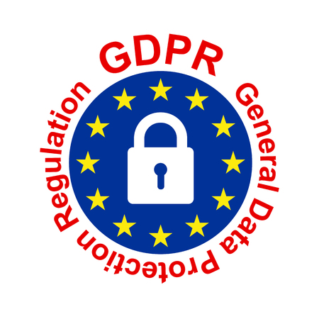 General Data Protection Regulation (GDPR) – stock vector 일러스트