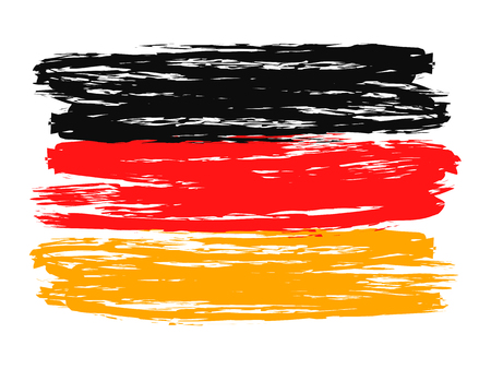 Germany colorful brush strokes painted flag – stock vector