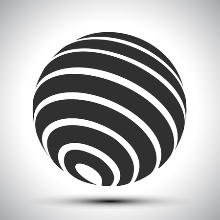 Black world globes - stock vector  イラスト・ベクター素材