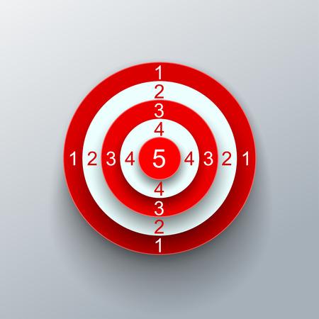 Red target – vector Illustration