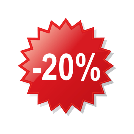 Discount 20 percent - stock vector