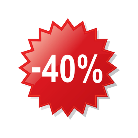 Discount 40 percent - stock vector