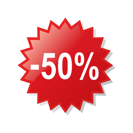 Discount 50 percent - stock vector
