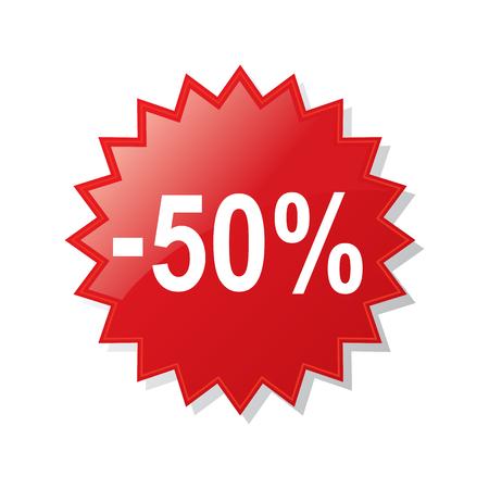 Discount 50 percent - stock vector