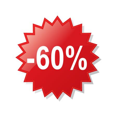 Rabatt 60 Prozent - Aktienvektor