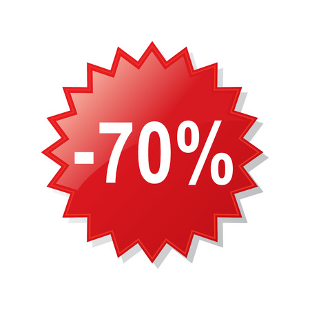 Rabatt 70 Prozent - Aktienvektor
