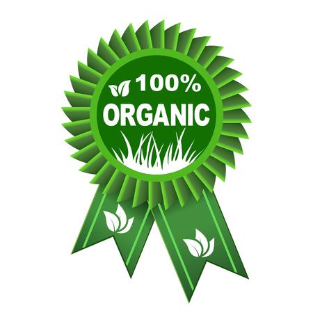 100 percent organic icon – stock vector