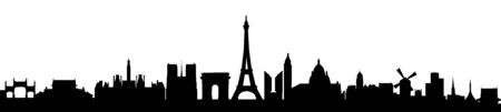 Paris sity silhouette - stock vector