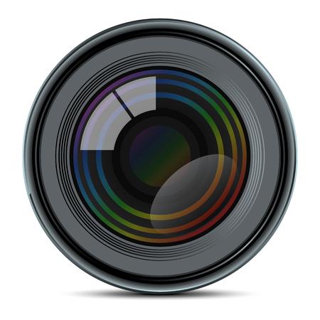 Photo lens - stock vector