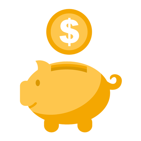 Accumulation money, savings concept vector illustration