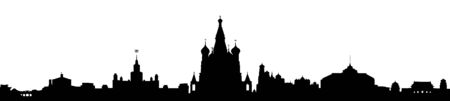 Moscow sity silhouette - vector