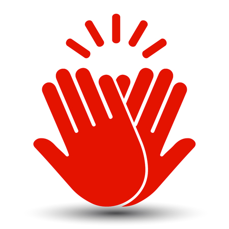 High Five Icon – stock vector Çizim