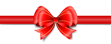 Gift decoration. Red ribbon - for stock vector