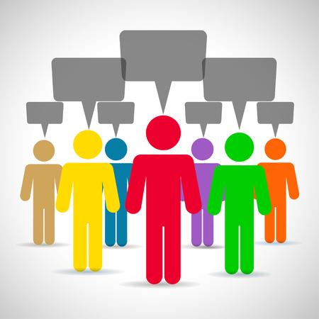 People speech - vector Vetores