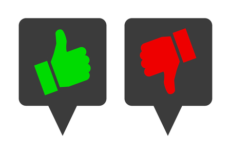 Thumb up and down - vector for stock 일러스트