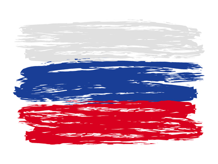 Russian colorful brush strokes painted flag – stock vector