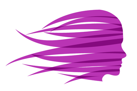 Hair girl fast in the wind – vector