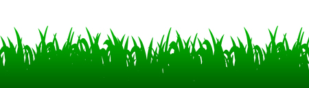 Green grass, nature background - stock vector  イラスト・ベクター素材
