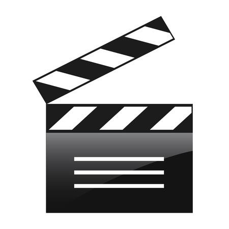 Movie board icon – stock vector 일러스트