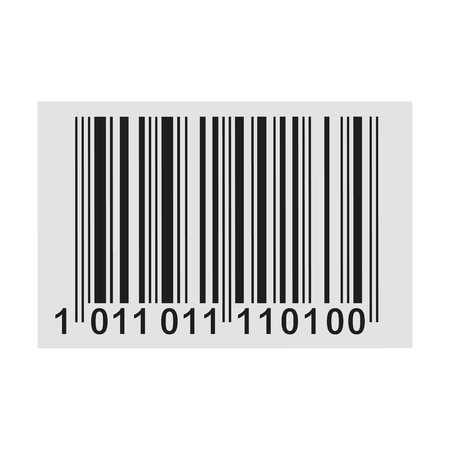 Barcode product distribution icon – stock vector