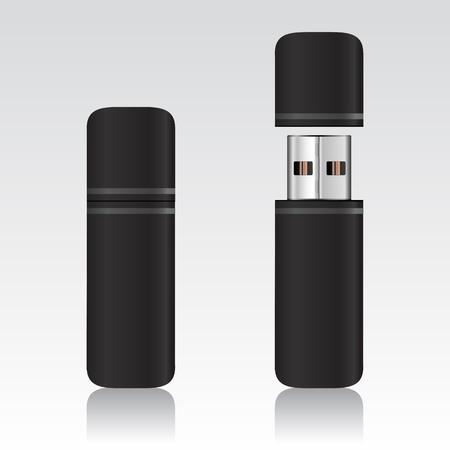 USB flash drive – vector