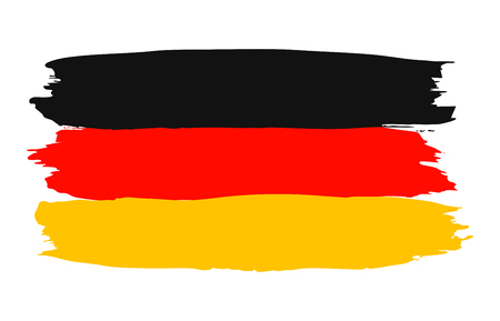 Germany colorful brush strokes painted flag – vector