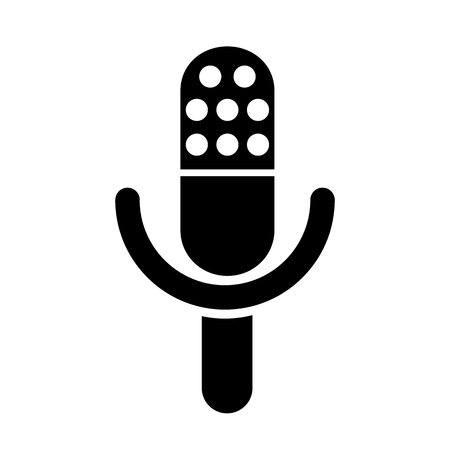 Microphone speaker icon for apps and websites – vector