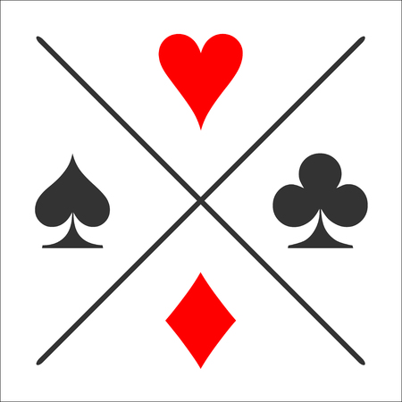 Divided suit. Card suit icon.