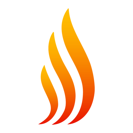 Fire with three tongues of flame - icon for stock Illustration