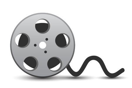 Movie cassette with cinema tape - stock vector 일러스트