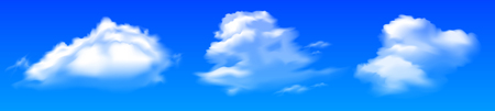 Three cloud - stock vector Иллюстрация