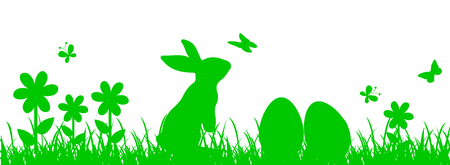 Bunny Sitting In The Meadow, Easter concept – for stock