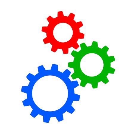 Realization, concept teamwork, generator business idea - stock vector Illustration