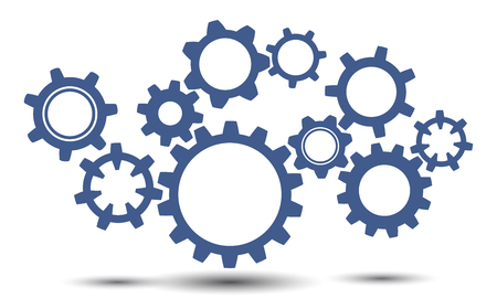 Concept teamwork, generator business idea - stock vector Illustration