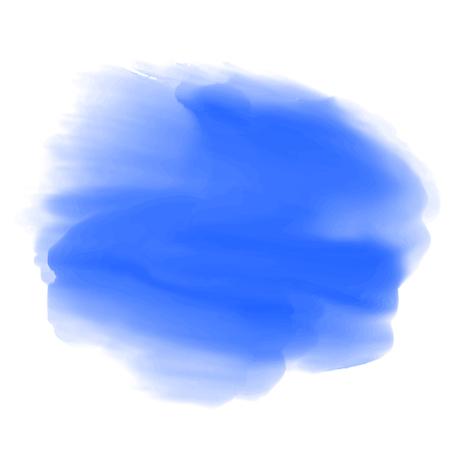 Blue paint, brush strokes – stock vector Illustration