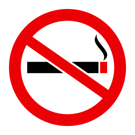 No smoking cigarette sign - stock vector Illustration