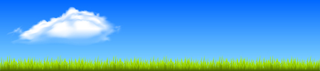 Field, green grass with white cloud - vector Иллюстрация
