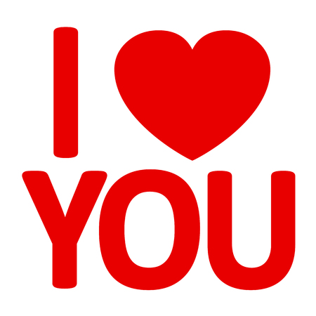 I love you - vector for stoke Иллюстрация