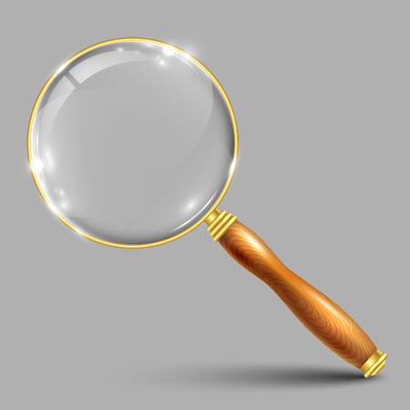 Realistic magnifying glass – vector