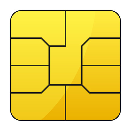 Mobile phone sim card – stock vector