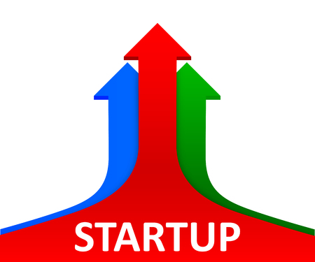 Three arrow up, startup concept, business vision - for stock Vectores