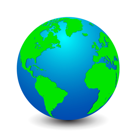 Blue globes with green continents Иллюстрация