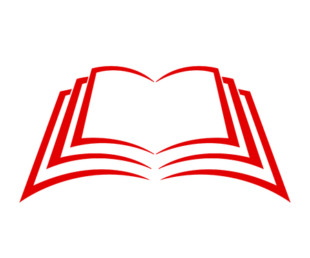 Red book sign icon